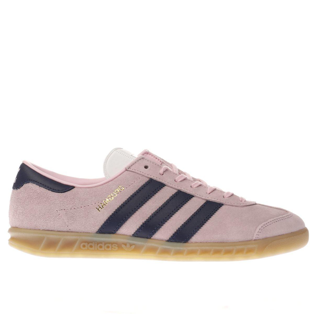 adidas pale pink hamburg trainers