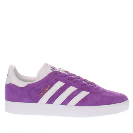 Adidas Purple Gazelle Suede Trainers