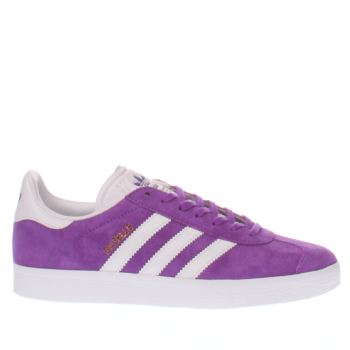Adidas Purple Gazelle Suede Womens Trainers