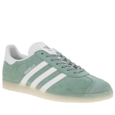 Adidas Green Gazelle Suede Trainers