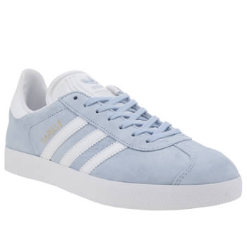 Adidas Pale Blue Adi Gazelle Suede Womens Trainers