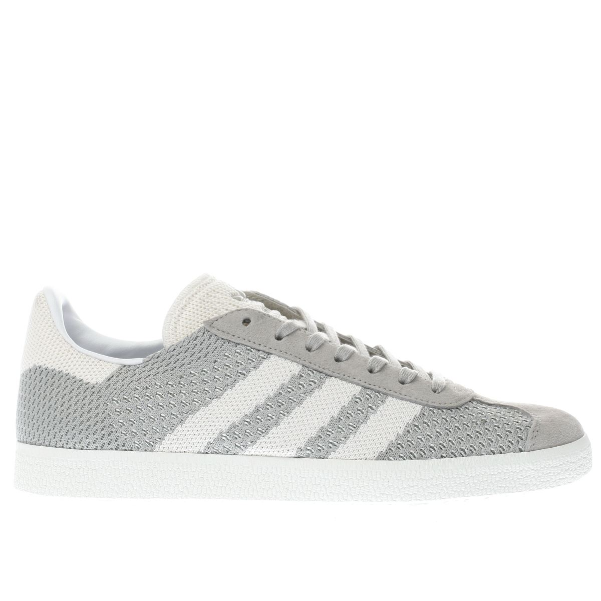 adidas light grey gazelle prime knit trainers