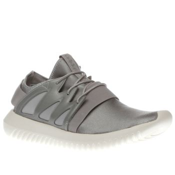 Adidas Light Grey Tubular Viral Trainers