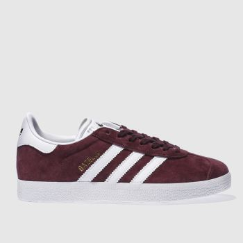 Adidas Burgundy Gazelle Nubuck Womens Trainers