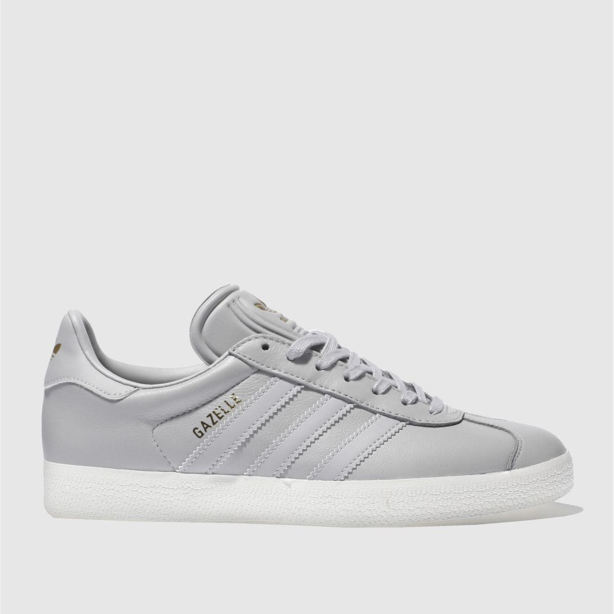 Adidas Light Grey Gazelle Leather Trainers