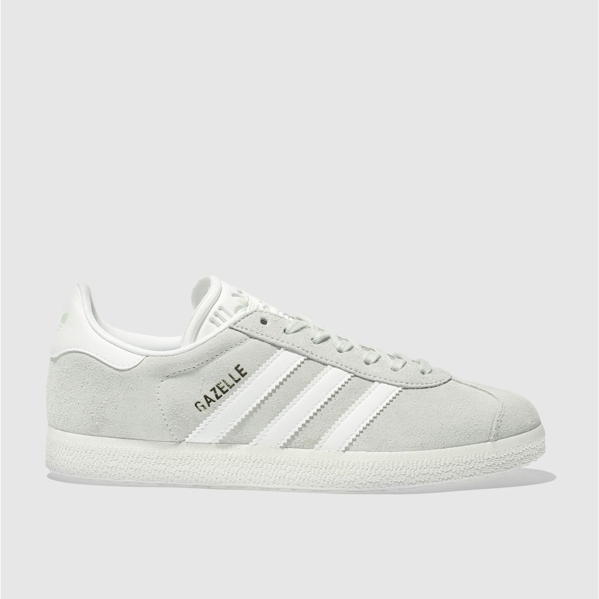 adidas light green gazelle suede trainers