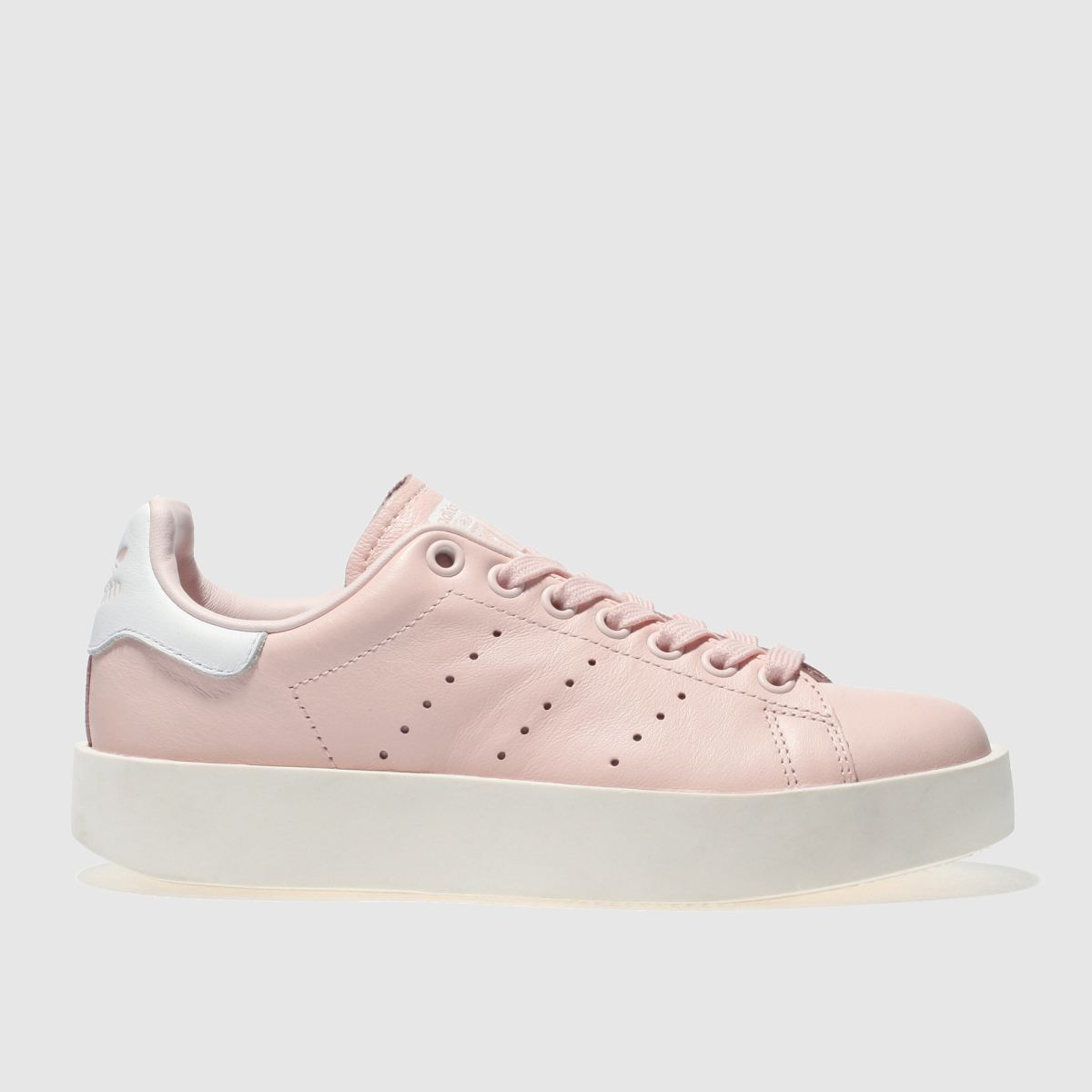 adidas pale pink stan smith bold trainers