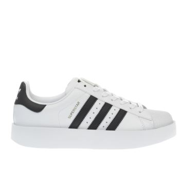 Adidas White & Black Superstar Bold Trainers