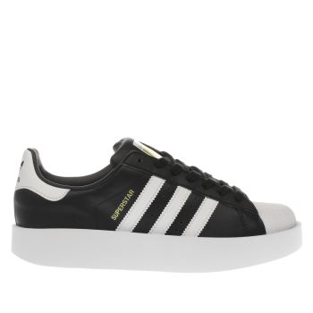 ADIDAS BLACK & WHITE SUPERSTAR BOLD TRAINERS