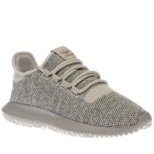 Adidas Beige Tubular Shadow Knit Trainers