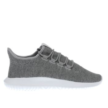 Adidas Light Grey Tubular Shadow Knit Womens Trainers