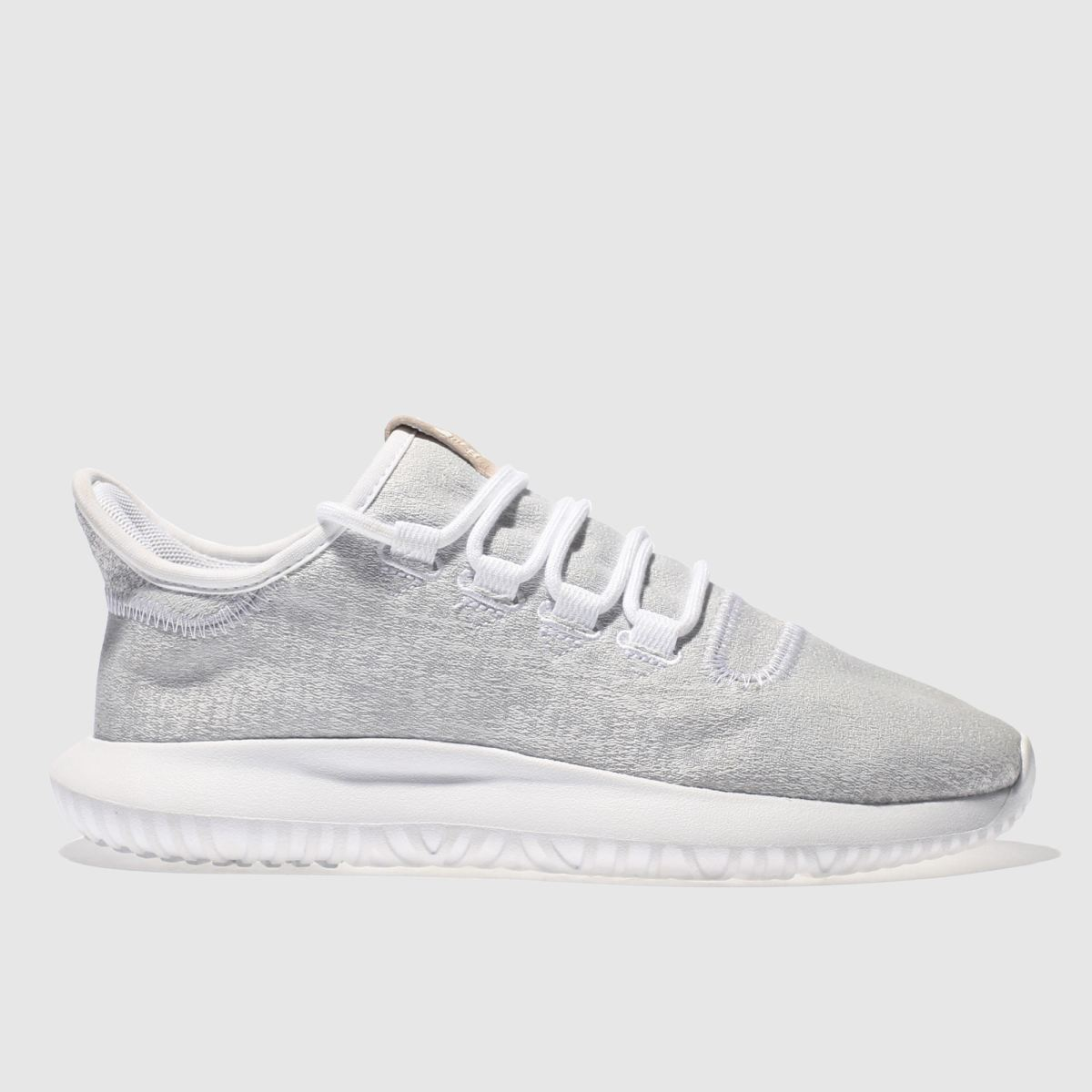 adidas light grey tubular shadow trainers