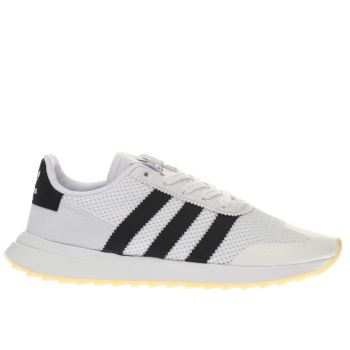 ADIDAS WHITE & BLACK FLB TRAINERS