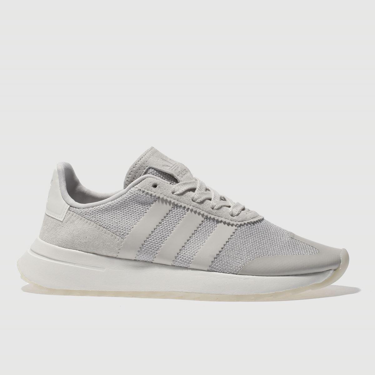 adidas light grey flb trainers