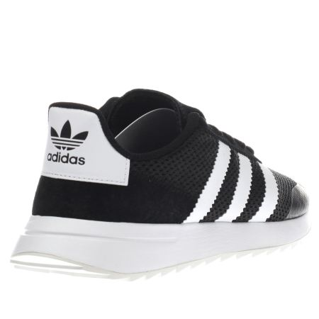 adidas black and white trainers