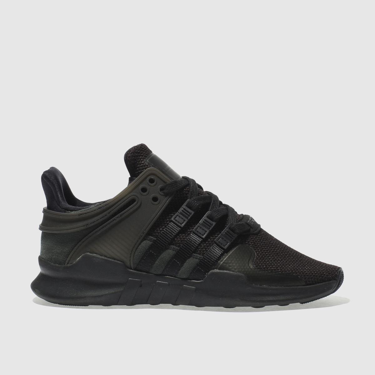 adidas black eqt support adv trainers