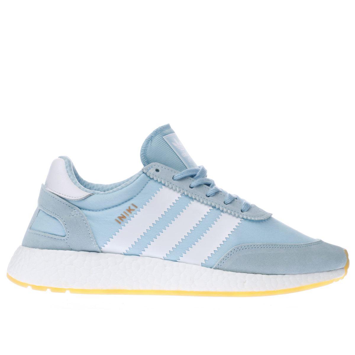 adidas pale blue iniki runner trainers