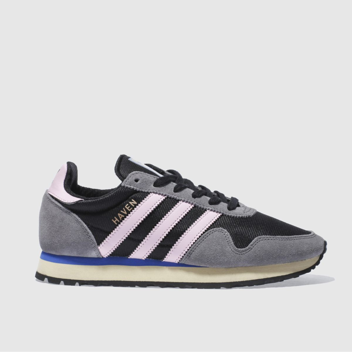 adidas black & pink haven trainers