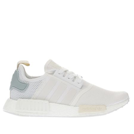 womens white adidas nmd r1 trainers schuh. Black Bedroom Furniture Sets. Home Design Ideas