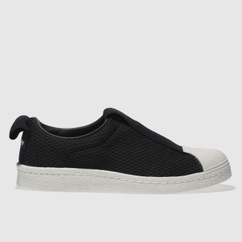 Adidas Black Superstar Bw35 Slip-On Womens Trainers