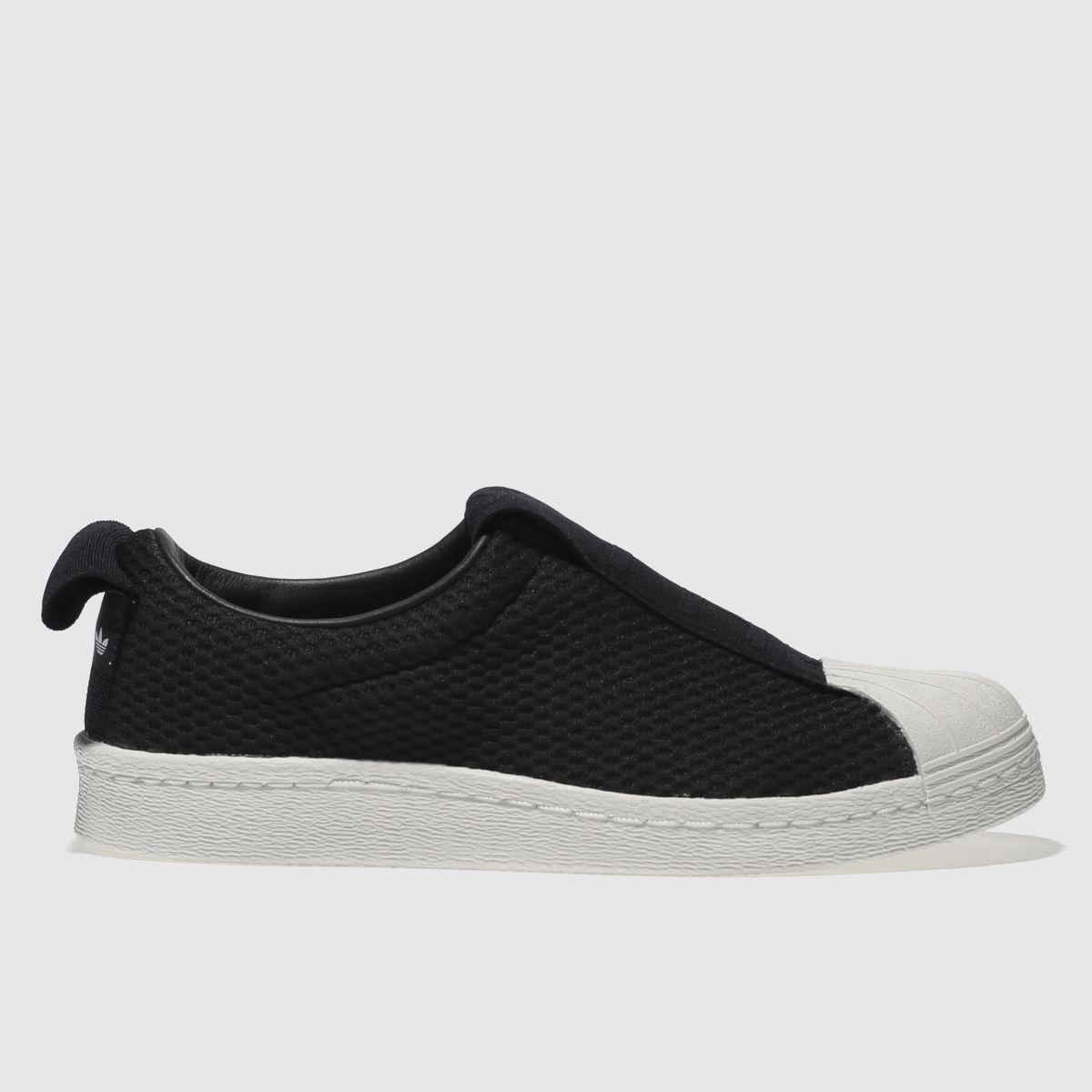 adidas black & white superstar bw35 slip-on trainers