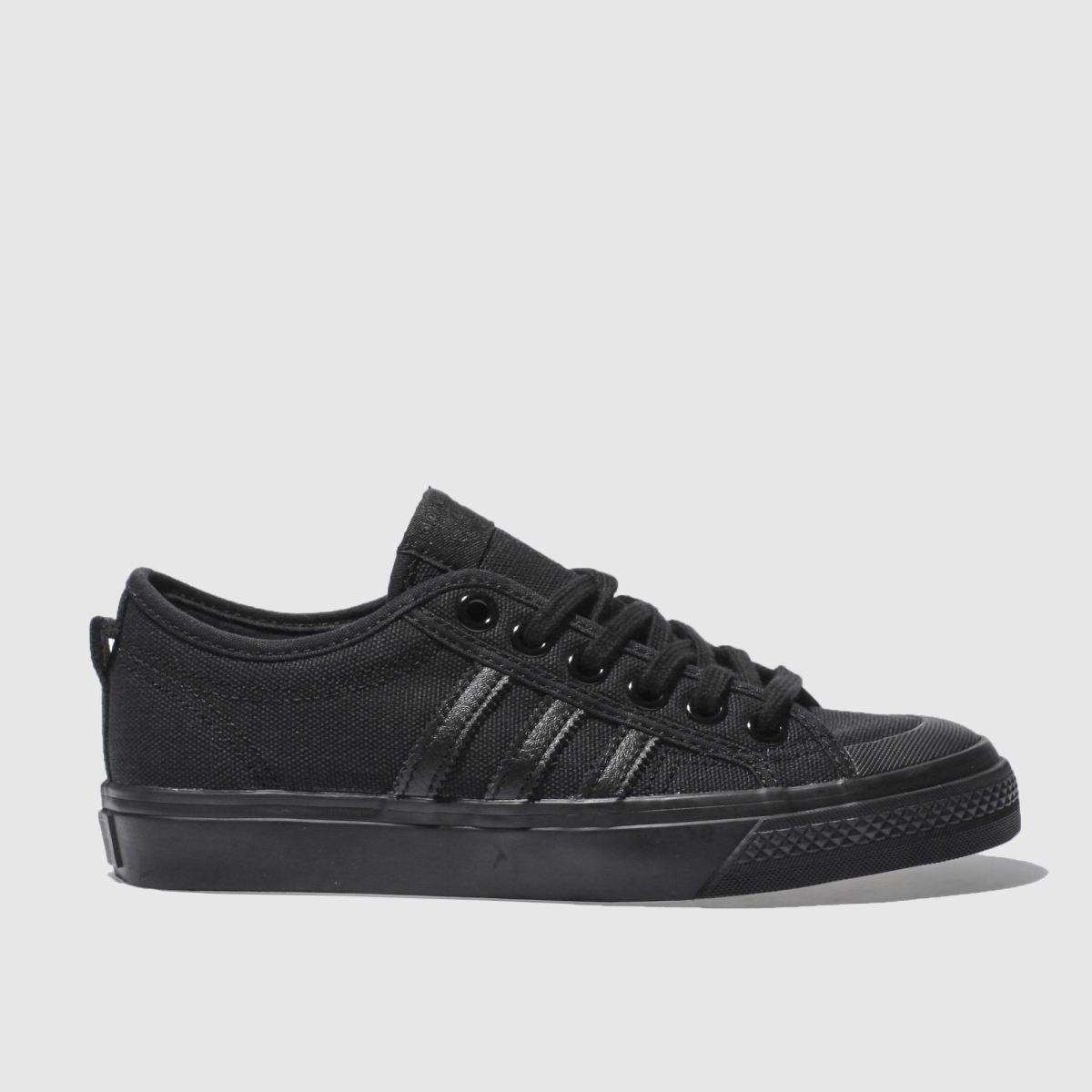 adidas black nizza low trainers