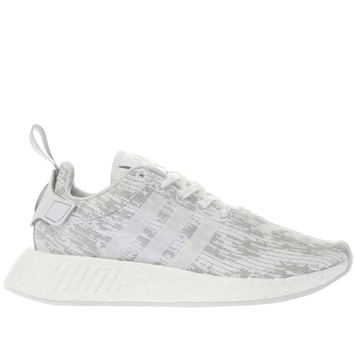 adidas white & grey nmd_r2 trainers