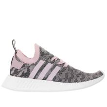Adidas Pink & Black Nmd_r2 Primeknit Womens Trainers