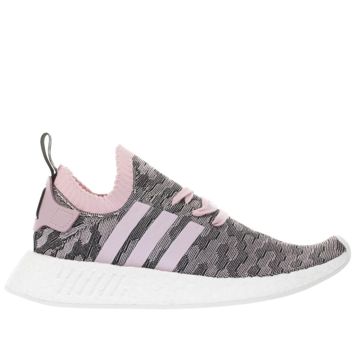 adidas pink & black nmd_r2 primeknit trainers