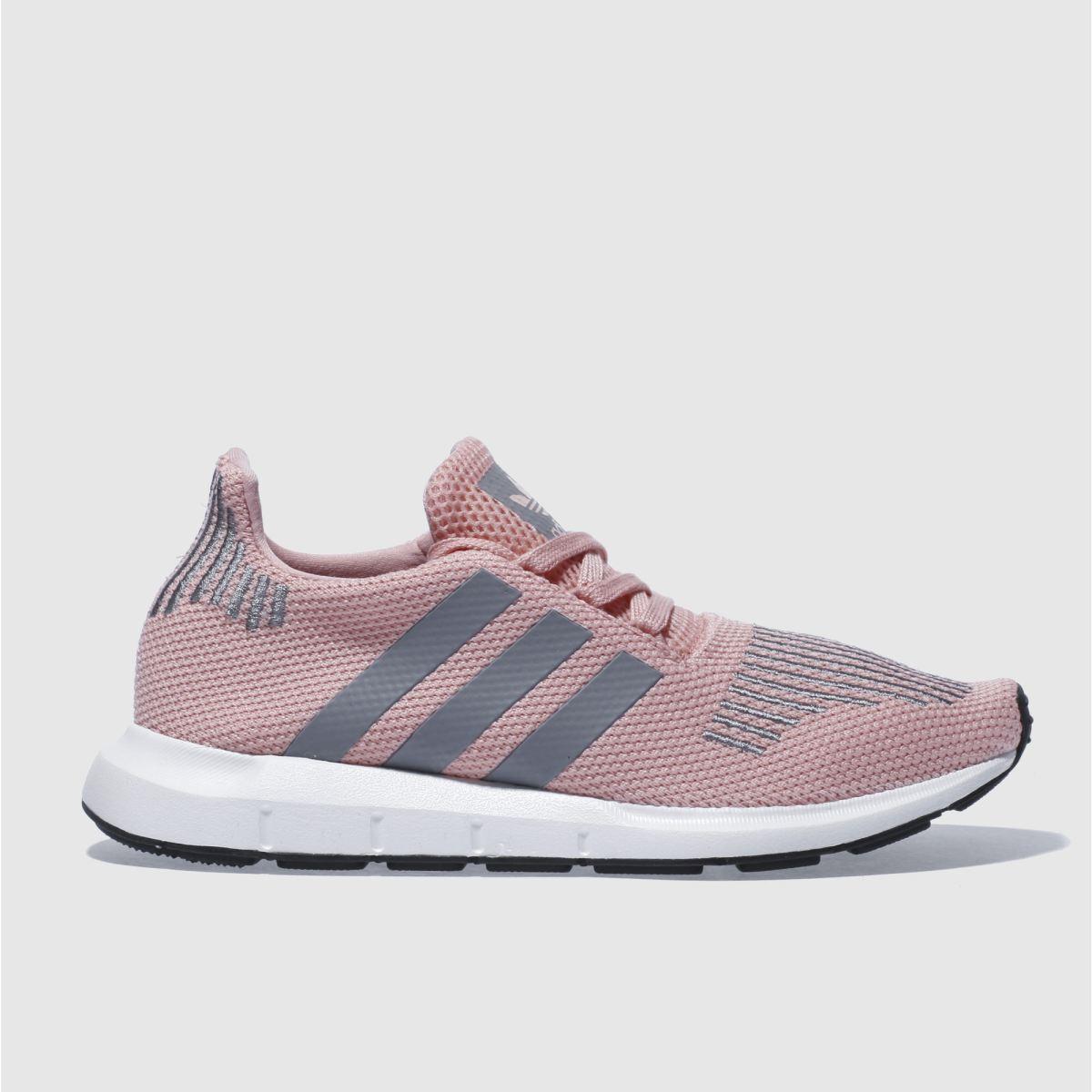 adidas pale pink swift run trainers
