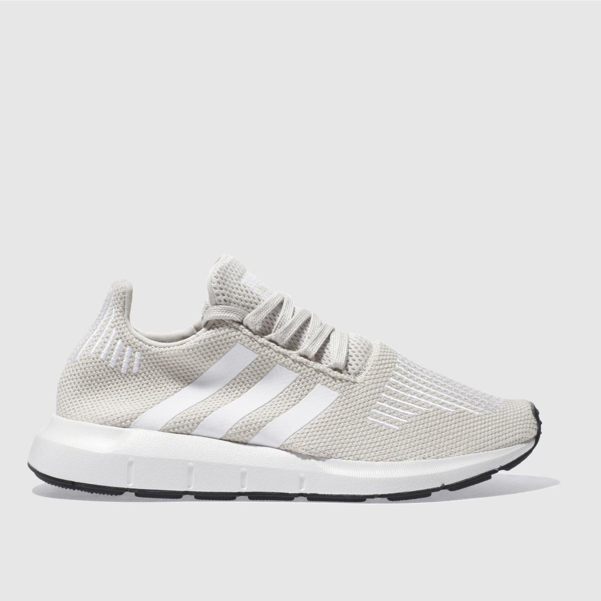 adidas beige swift run trainers