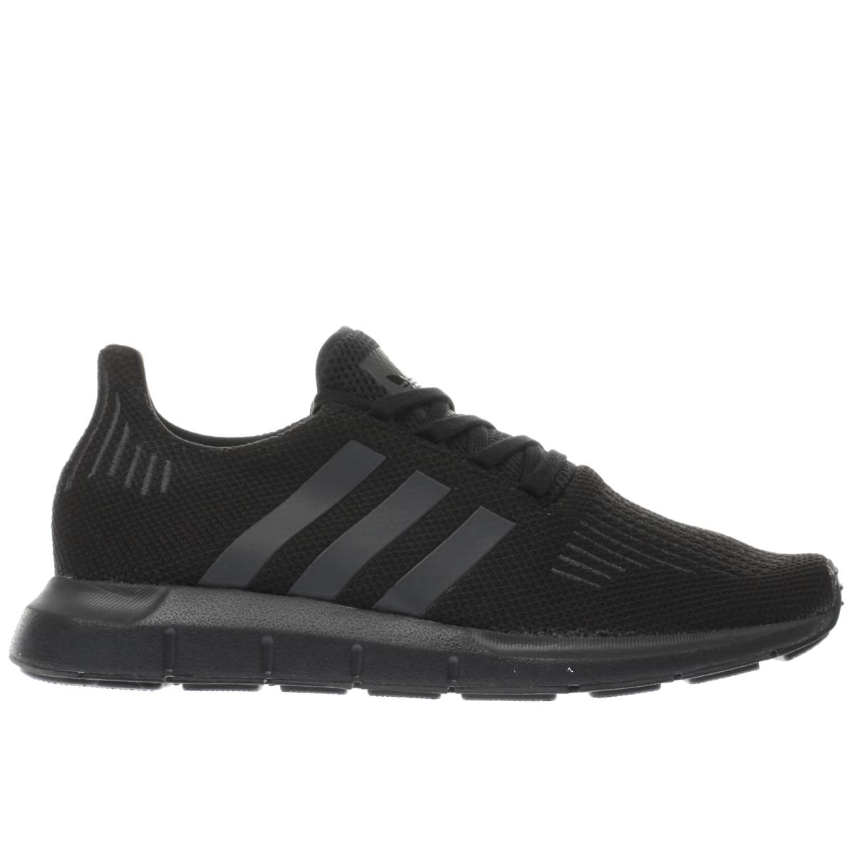 adidas black swift run trainers
