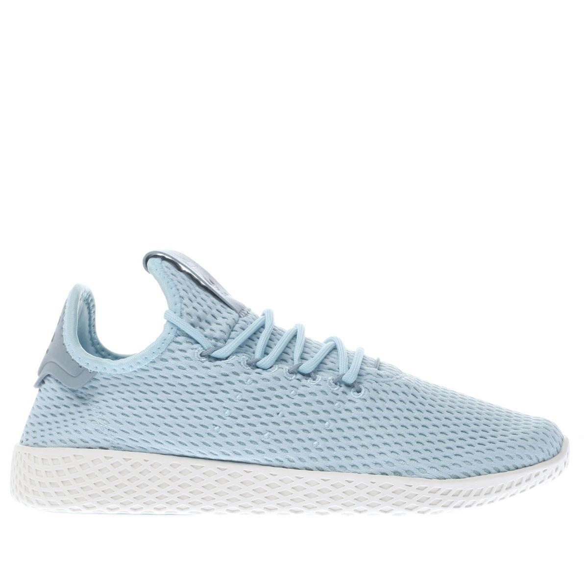 adidas pale blue pharrell williams tennis hu trainers