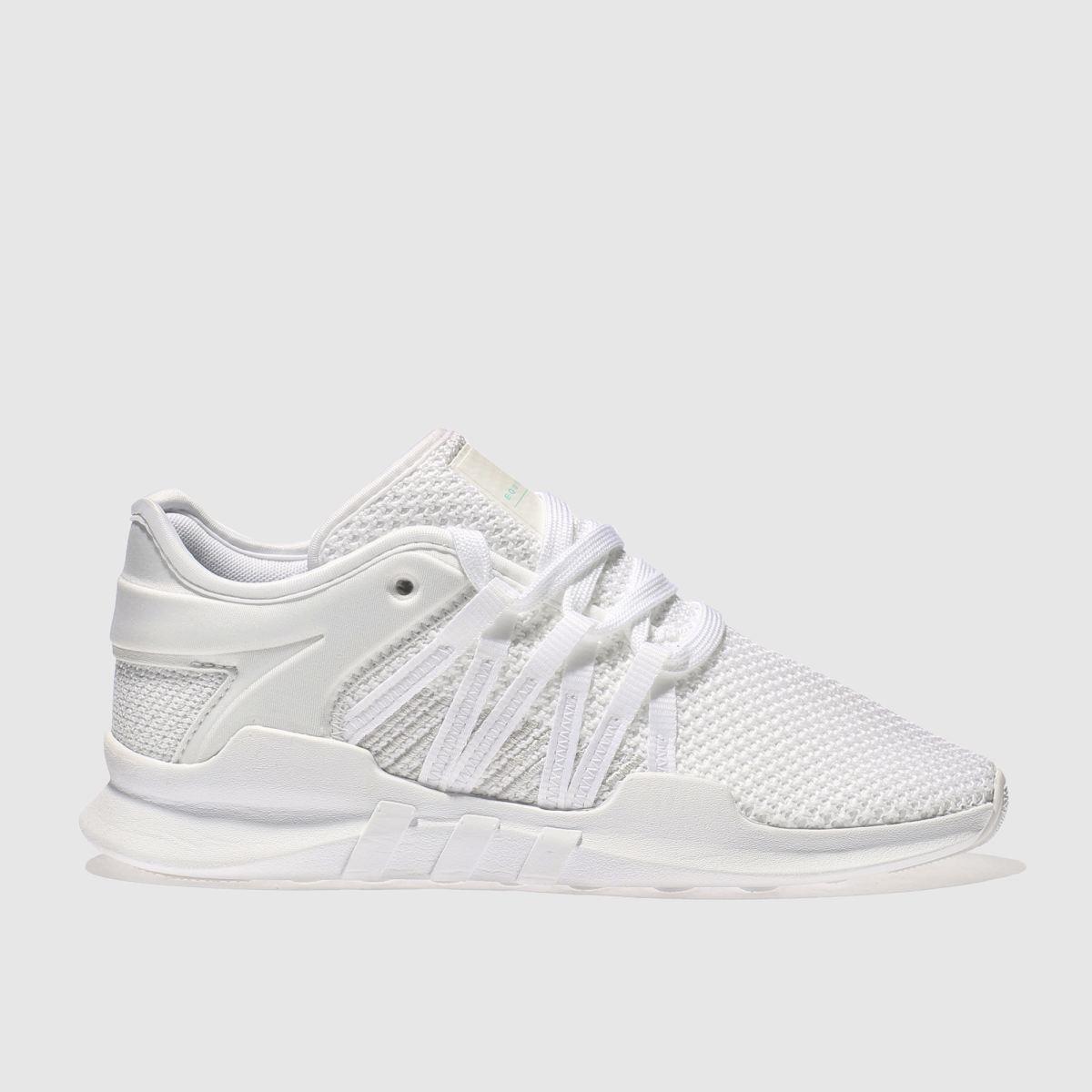 adidas white eqt racing adv trainers