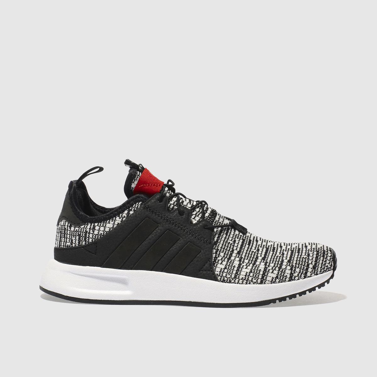 adidas white & black x_ plr trainers