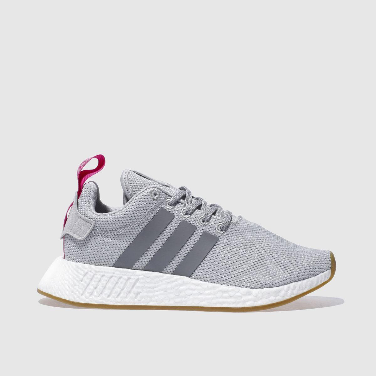 adidas light grey nmd_r2 trainers