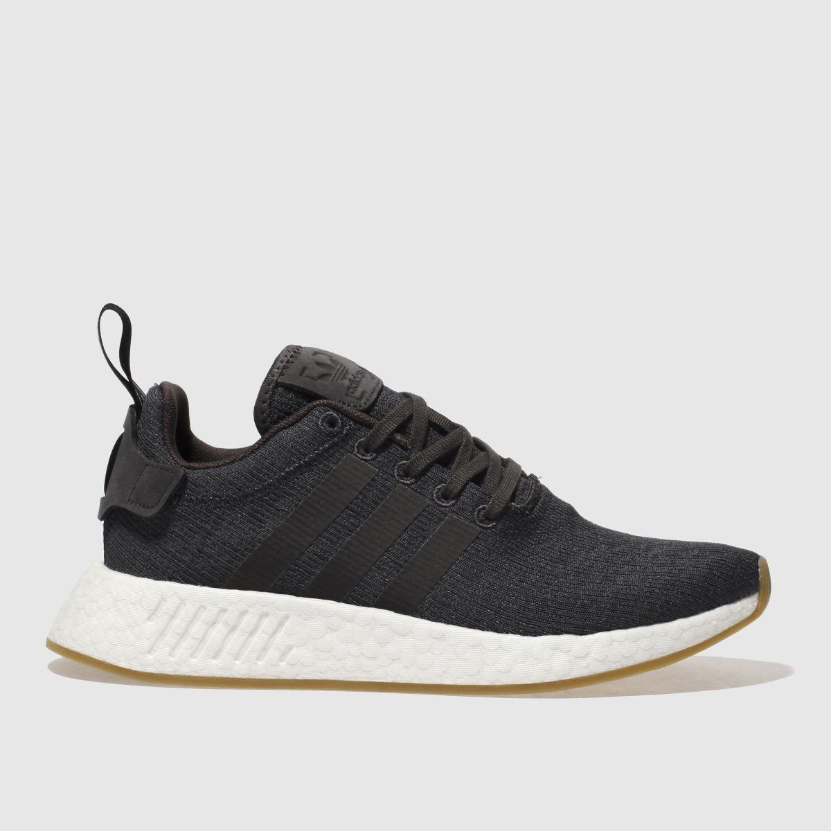 adidas dark grey nmd r2 trainers