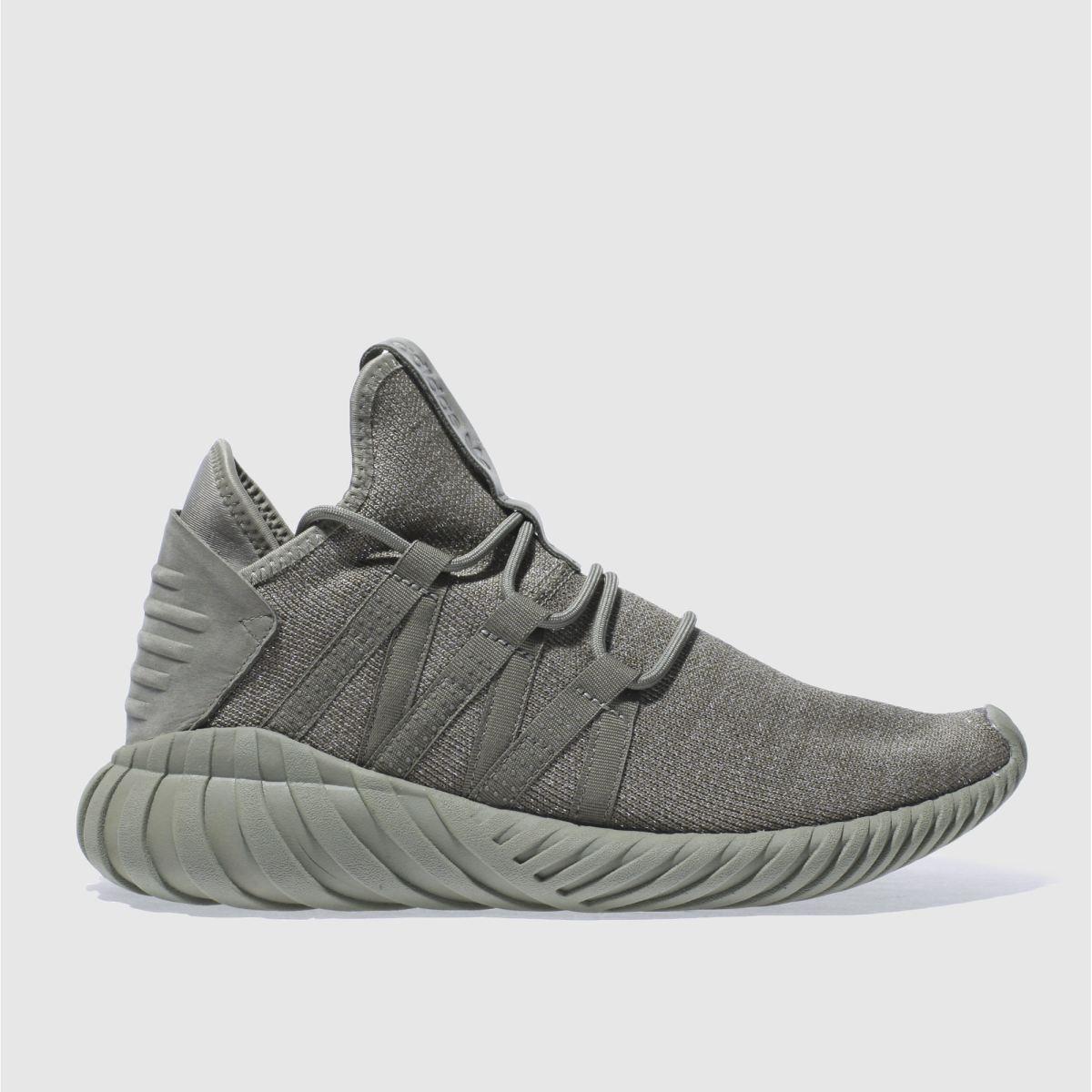 adidas khaki tubular dawn trainers