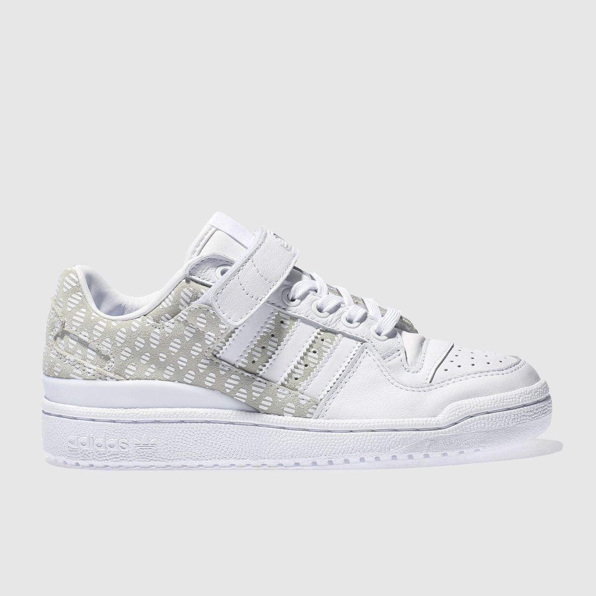 adidas white & beige forum lo trainers