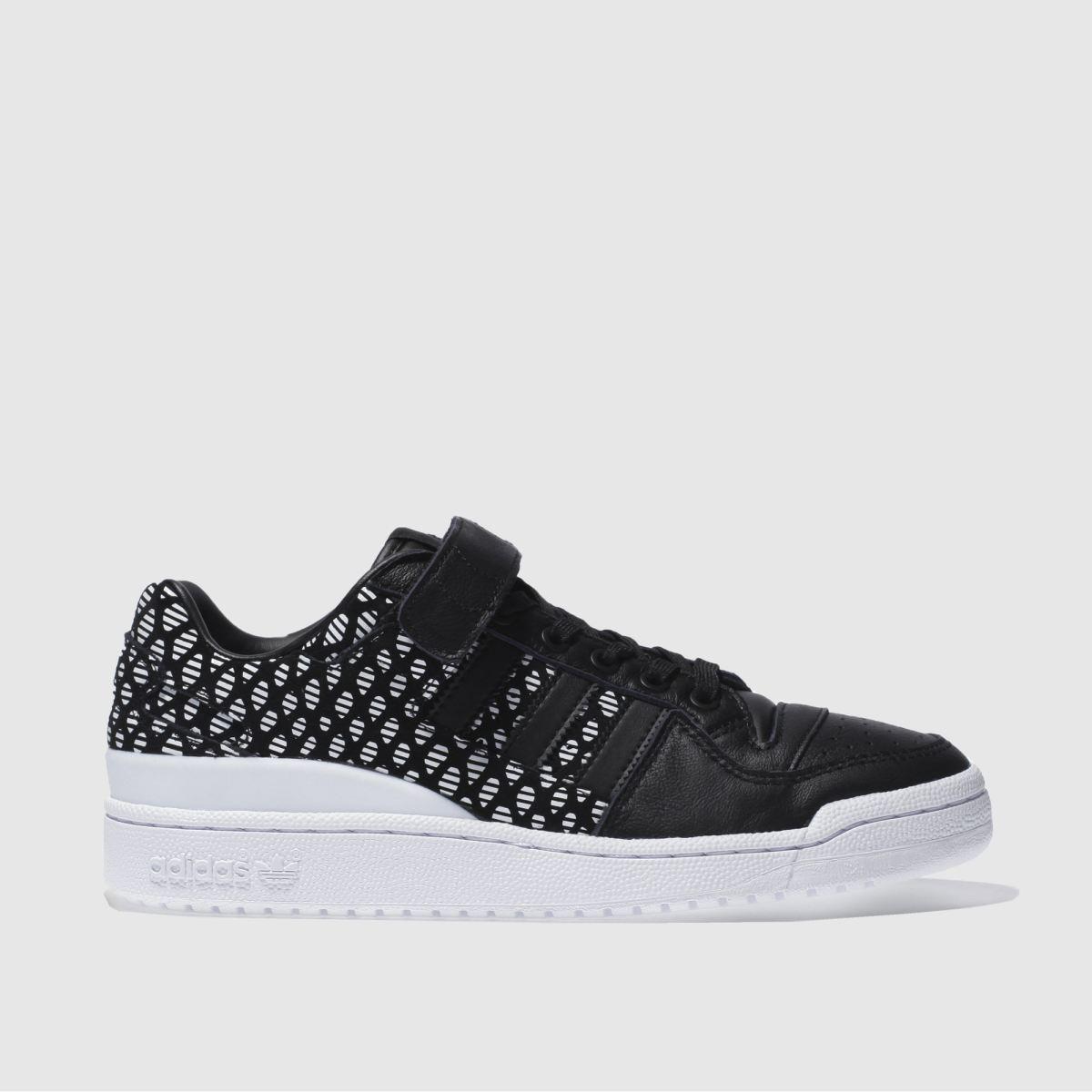 adidas black & white forum lo trainers