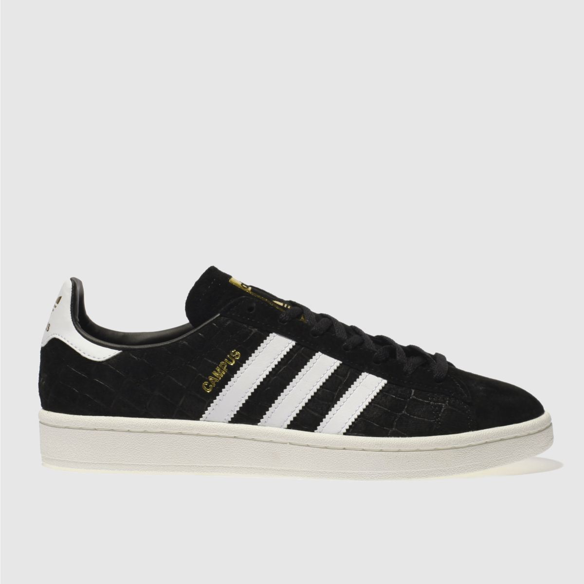 Adidas Black & White Campus Snake Trainers