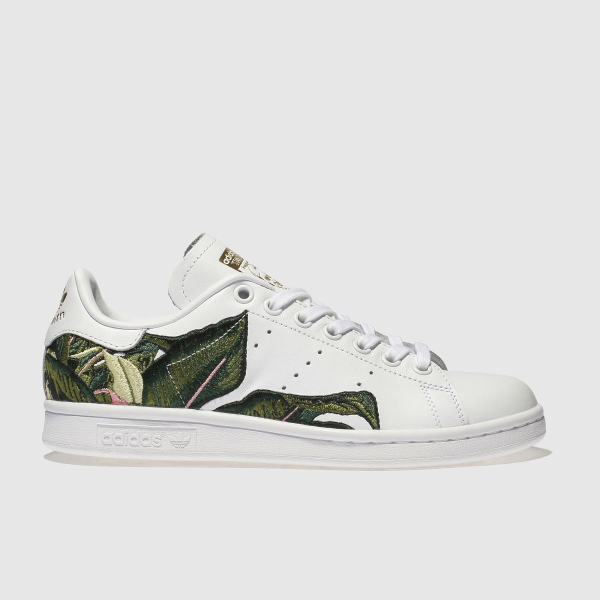 Adidas White & Green Stan Smith Farm Trainers