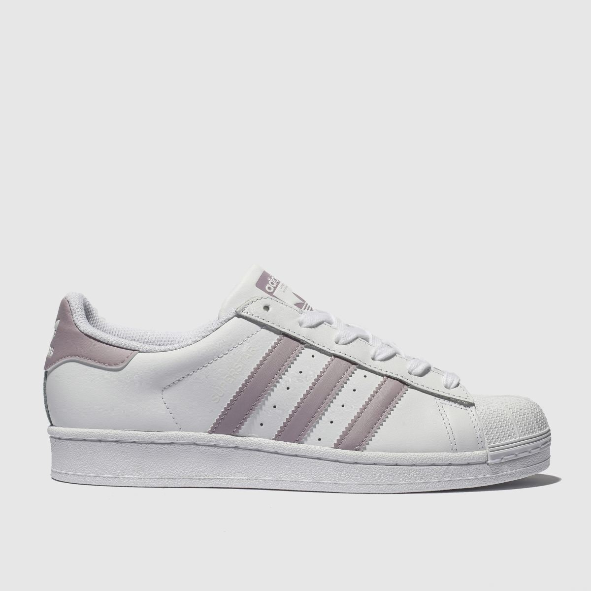 Adidas White & Pink Superstar Trainers