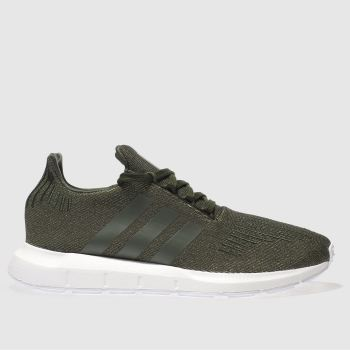 Adidas Khaki Swift Run Glitter Womens Trainers
