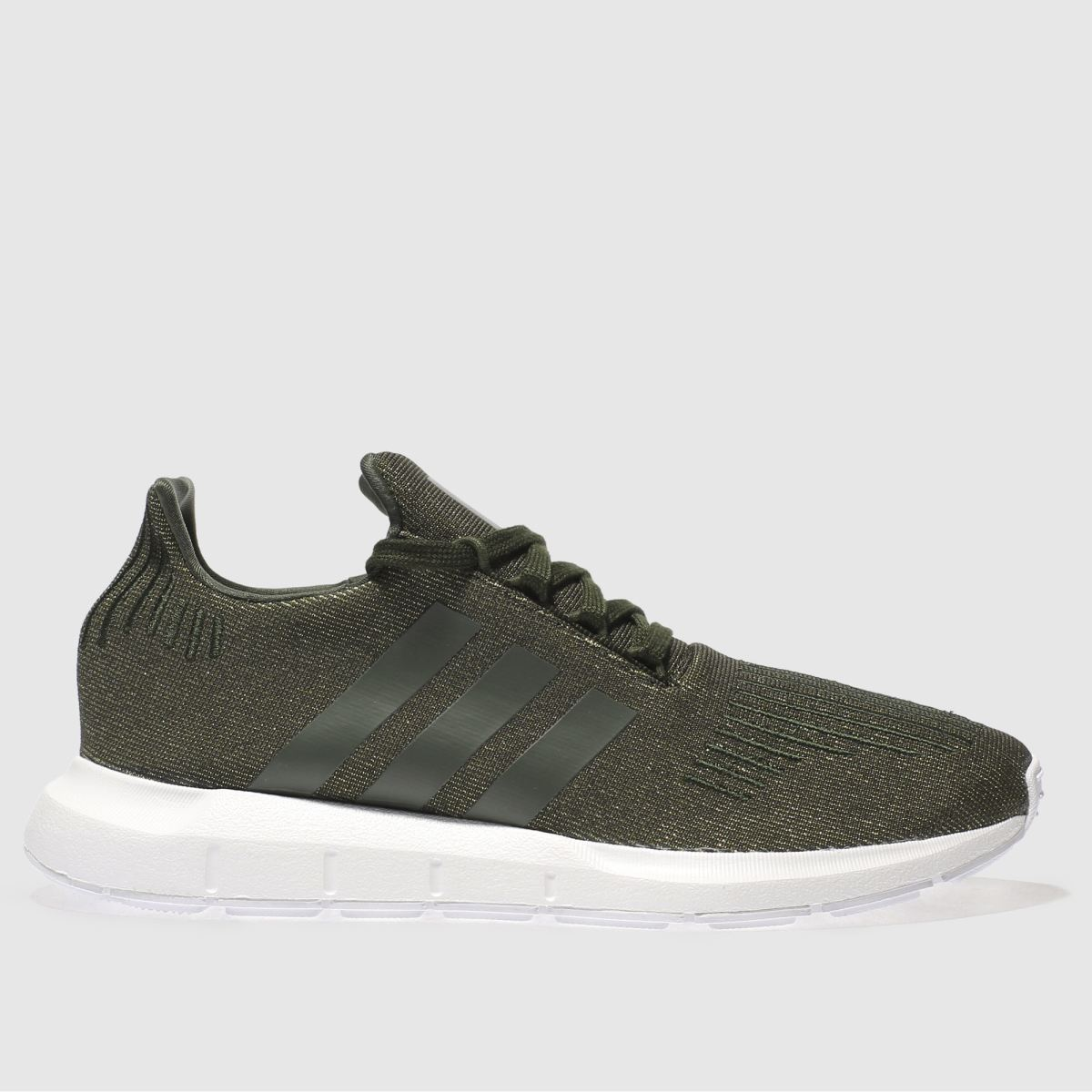 Adidas Khaki Swift Run Glitter Trainers