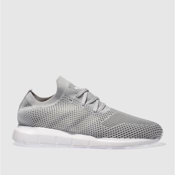 Adidas Grey Swift Run Primeknit Womens Trainers
