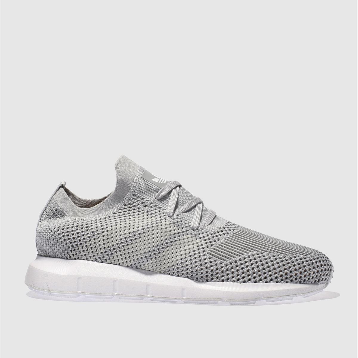 adidas grey swift run primeknit trainers
