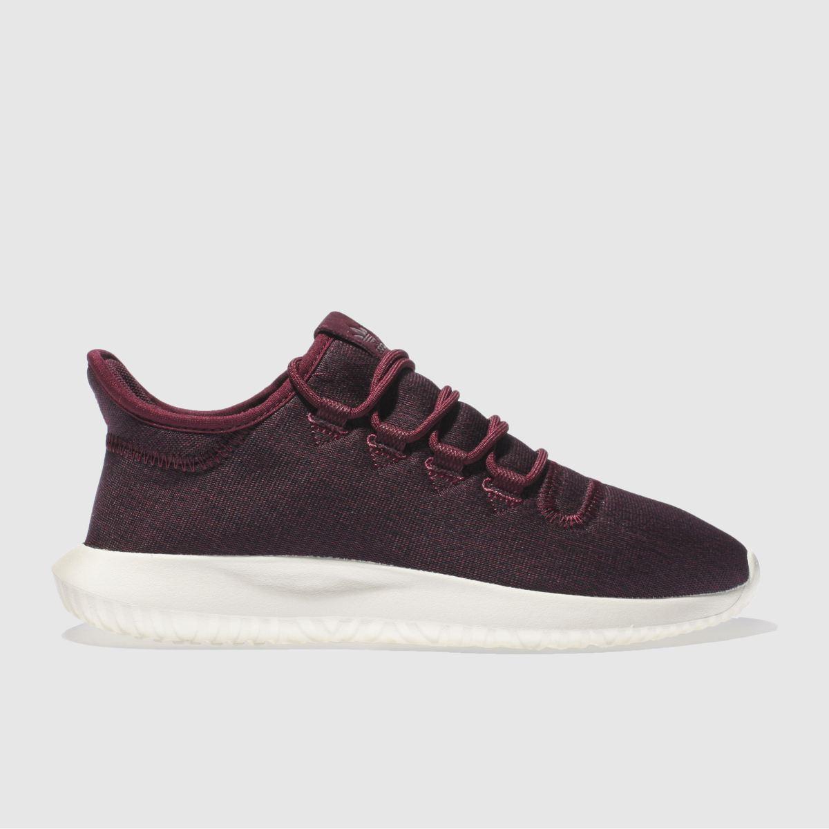 adidas burgundy tubular shadow trainers
