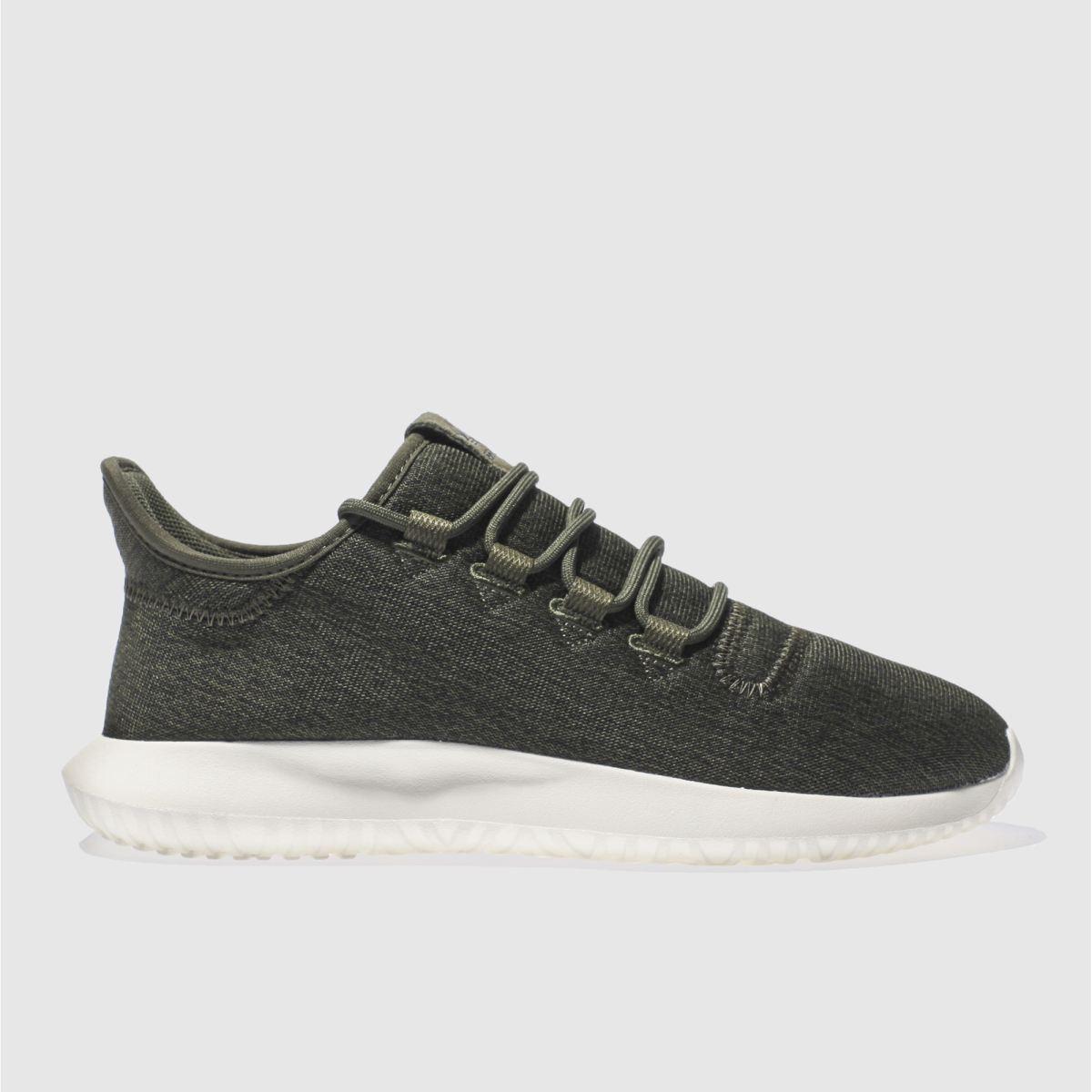 adidas dark green adi tubular shadow trainers