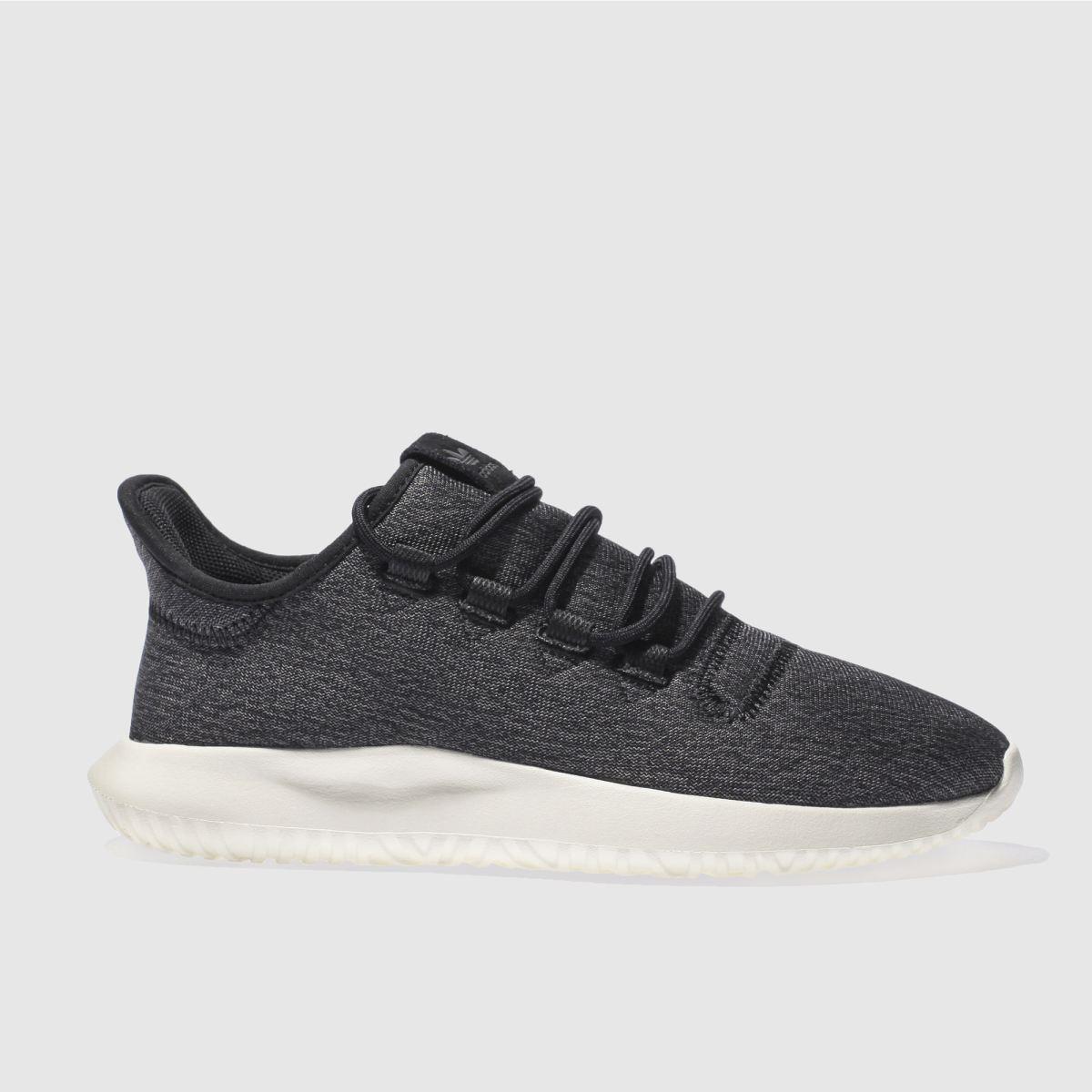 adidas black & white tubular shadow trainers